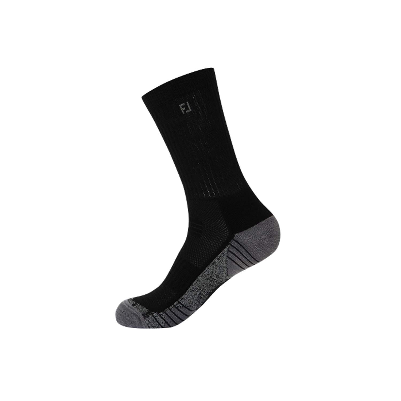 FootJoy Golf Socks for Men (Tour Compression, TechSof Tour, ProDry) (TechSof Tour Crew, Black, 17238) by FootJoy