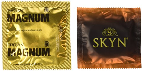 Trojan Magnum and Lifestyles SKYN Large Combo Pack, Premium Large Condoms-20 Count