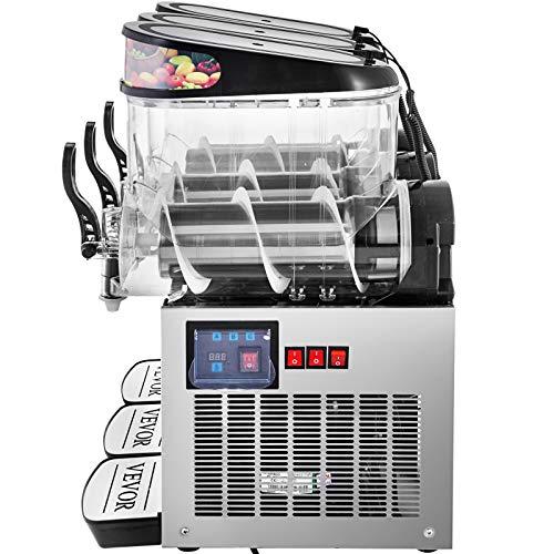 VEVOR 110V Slushy Machine 12L*3 Triple-Bowl Slush Frozen Drink Machine 900W Frozen Drink Maker Ice Slushies for Supermarkets Cafes Restaurants Snack Bars Commercial Use by VEVOR (Image #8)