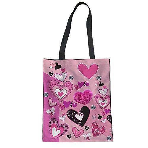 Advocator Mädchen Tragetaschen für Schule Canvas Shopper Taschen Strandtasche für Teenager Casual Lehrer Tasche Color-6