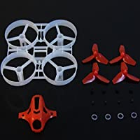 Thriverline 75mm Tiny Whoop Frame Kits with Canopy for KINGKONG TINY 7 DIY Micro FPV Quadcopter Mini Drone (Red)