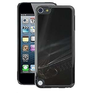 A-type Arte & diseño plástico duro Fundas Cover Cubre Hard Case Cover para Apple iPod Touch 5 (Modern Art Strings Black White)