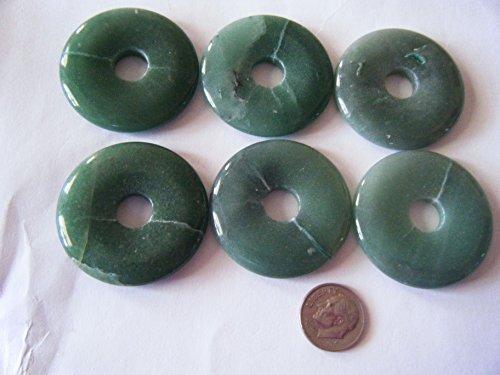 Aventurine Donut (Pendant Bead, Imperfect Green Aventurine 40mm Gemstone Donut - 1pc)