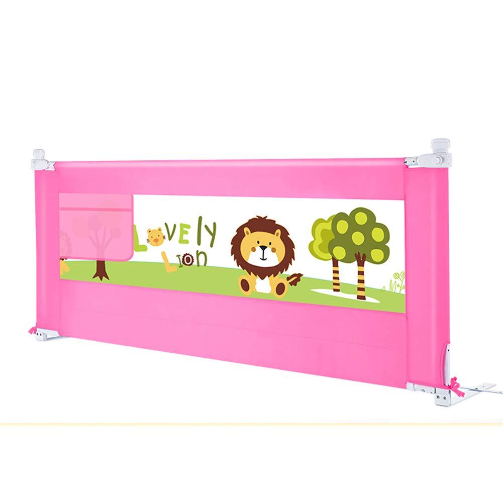 ベッドフェンス- 折りたたみベビーベッドレール高70 cm、幼児用縦型リフト子供用メッシュベッドレールロングベッドレール、ピンク(調節可能なクロスバー) (サイズ さいず : 200cm) 200cm  B07MLGRK8N