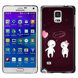 PC/Aluminum Funda Carcasa protectora para Samsung Galaxy Note 4 SM-N910F SM-N910K SM-N910C SM-N910W8 SM-N910U SM-N910 Cute Love You Couple / JUSTGO PHONE PROTECTOR