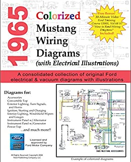 1965 ford wiring schematic 1965 colorized mustang wiring diagrams kindle edition by ford  1965 colorized mustang wiring diagrams