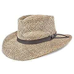 Stetson created this Gambler Straw Cowboy Hat for the budget conscious hat wearer. Made of Twisted Seagrass straw this great hat is breathable and lightweight. The brim measures 3 1/4 inches the crown 4 inches and provides UV protection. It a...