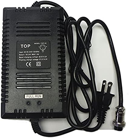Dunarri 24V 1.6A Battery Charger for Razor Electric Motorcycles /& Dirt Bikes