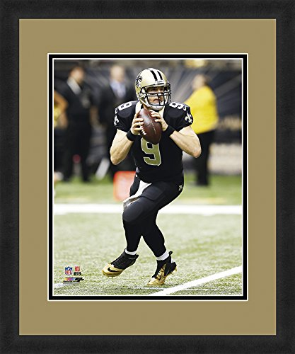 New Orleans Saints Framed - NFL New Orleans Saints Dree Brees, Beautifully Framed and Double Matted, 18