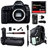 Cheap Canon EOS 5D Mark IV Full Frame Digital SLR Camera Body DSLR Bundle + Original Canon BG-E20 Battery Grip + 64GB SD Card Backpack & Double Battery Charger – Advanced Photography & Travel Bundle