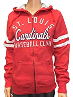 Soft As A Grape St. Louis Cardinals SAAG Women Red Fleece Zip Up Thermal Hoodie Jacket