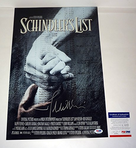john-williams-signed-autograph-schindlers-list-movie-poster-psa-dna-coa