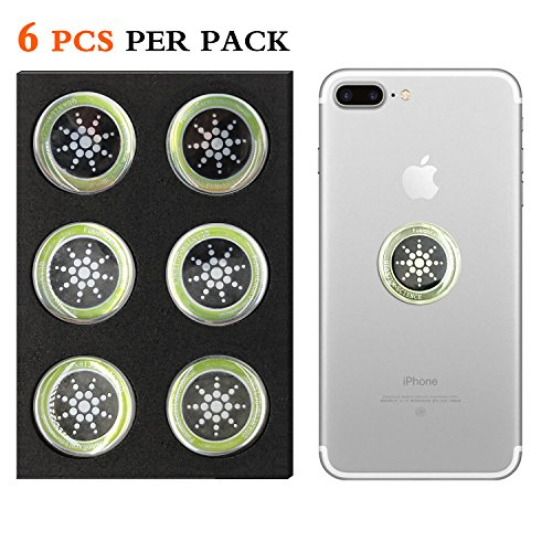Cell Phone Radiation Protector Shield Sticker-The Best EMR/EMF Neutralizer for Cell Phone,Mobile Phone, iPhone, iPad (Silver 6pcs) - Electromagnetic Radiation Shield