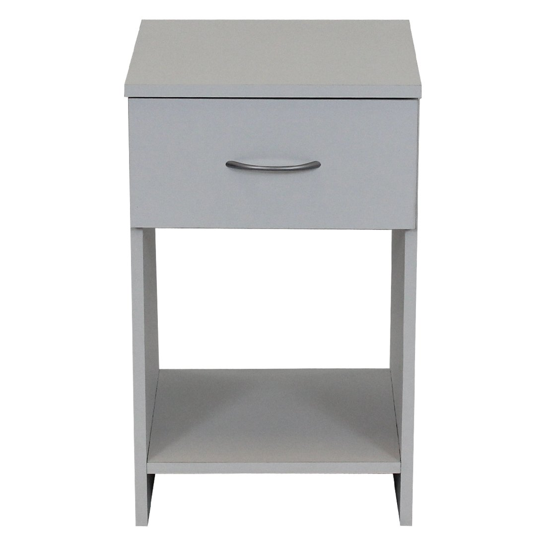 Devoted2Home Budget Bedroom Furniture with 1-Drawer Bedside Cabinet, Wood, White, 33 x 34.29 x 56.5 cm AA510101BO2
