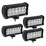 6 inch led spot lights - Led Light Bar YINTATECH 4Pcs 7inch 36W LED Spot Light Pods Off Road Driving Work Light Fog DRL Bulb 3600LM Super Bright for Truck Jeep Cabin SUV Car ATV,2 Years Warranty