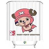 Tony Tony Choppe Bathroom Fabric Shower Curtain with 12 Hooks Home Decor Great Gift