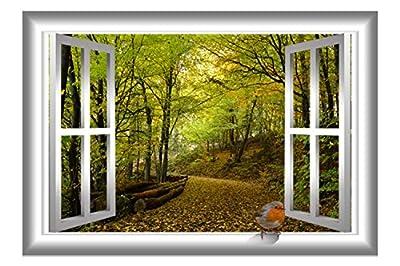 VWAQ 3D Bird Wall Sticker Nature Window Decal Peel And Stick Mural AN5