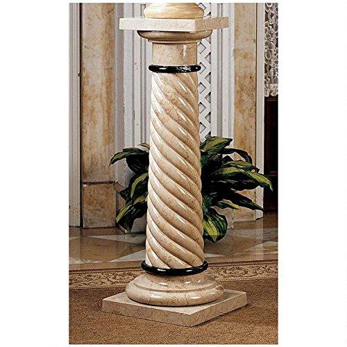 Marble Italian Column - Design Toscano Bottochino Spiraled Solid Marble Column
