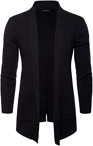 Men's Long Sleeve Knitted Sweater Cardigan Casual Slim Fit
