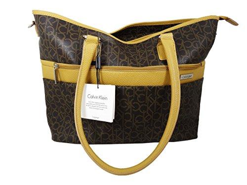 Calvin Klein Brown Luggage Tote (Www Calvin Klein)