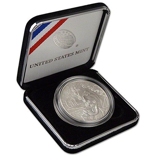 2016 P Us Commemorative Bu Silver Dollar Mark Twain  1 Ogp Us Mint