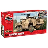 Hornby Airfix Supacat HMT600 Coyote Tank Building Kit, 1:48 Scale
