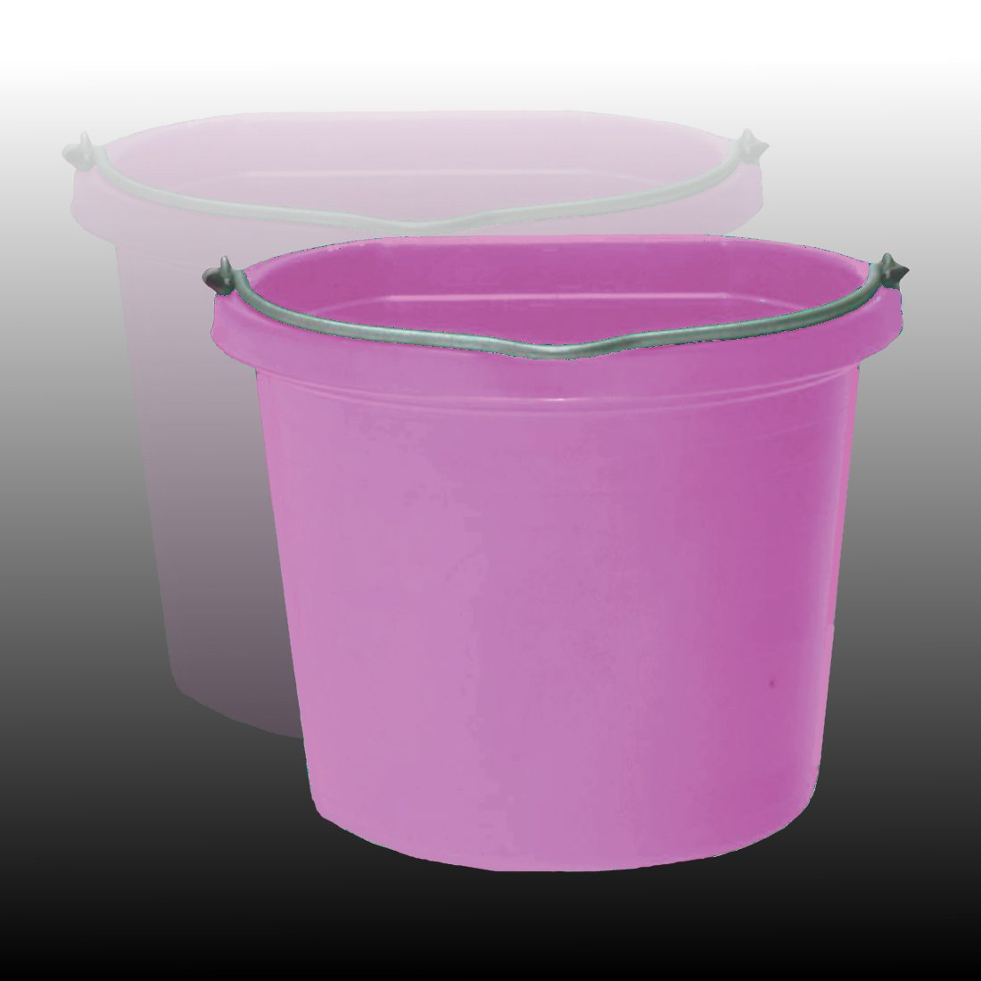 Fortiflex Flat Back Feed Bucket for Dogs/Cats and Small Animals, 20-Quart, Hot Pink