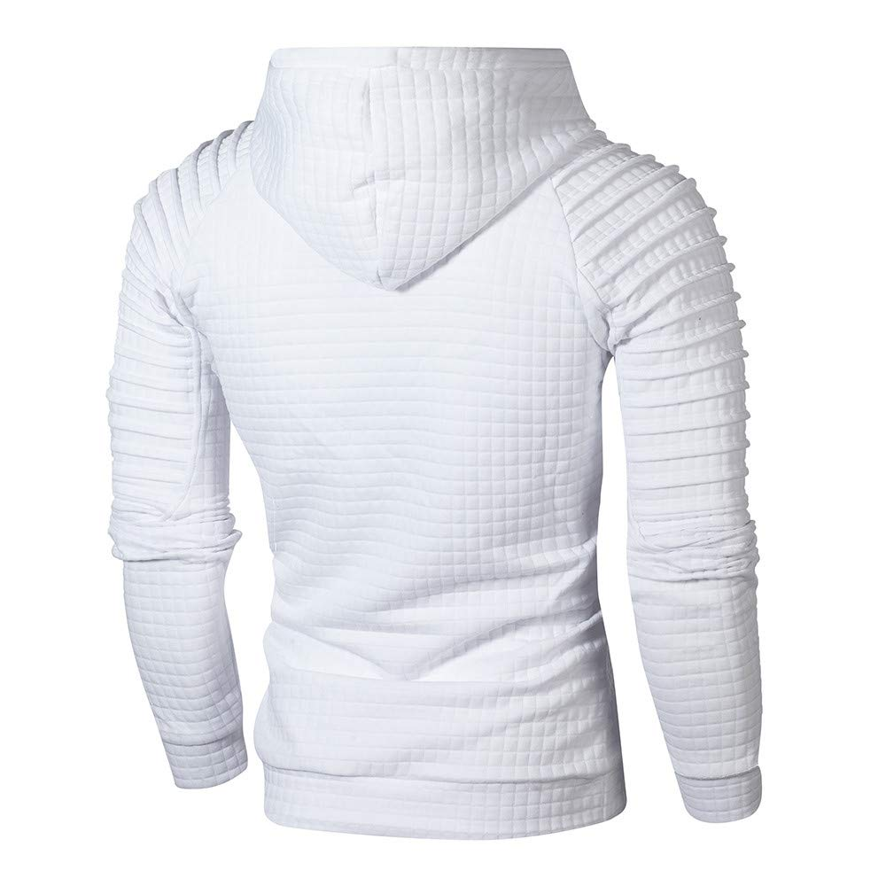 AopnHQ Mens Casual Loose Plaid Long Sleeve Hoodie Sweater Top