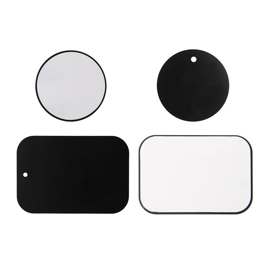 Itlovely 4Pcs Replacement Metal Plate for Magnetic Car Dash Mount Phone GPS PDA Holder