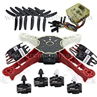 powerdayTotem Q250 DIY Quadcopter Kit &Emax MT2204 Brushless Motor & SimonK 12A ESC & CC3D Flight Controller + protect case