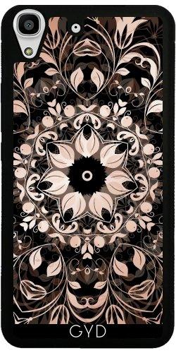 Funda de silicona para Huawei Y6 / Y6 DUAL - El Cobre Negro Mandala Floral by Nina Baydur