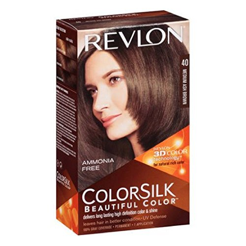 Revlon ColorSilk Hair Color 40 Medium Ash Brown 1 Each (P...