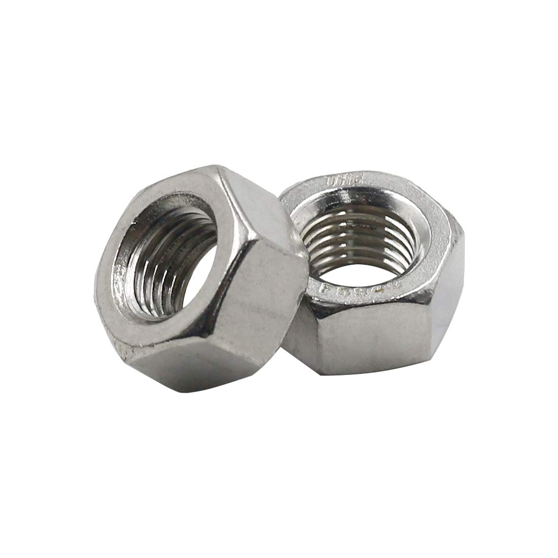 304 Stainless Steel Pack of 20 TOUHIA 7//16-20 Fine Thread Hex Nuts