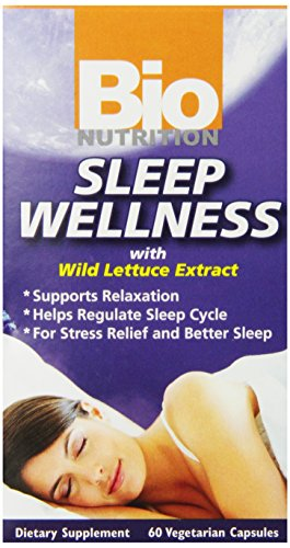 Bio Nutrition Sleep Wellness with Wild Lettuce Vegi-Caps, 60 Count