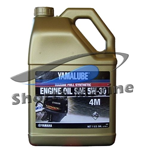 Price comparison product image Yamaha Yamalube Four Stroke 5W-30 Full Synthetic Outboard Motor Oil (1 Gallon)