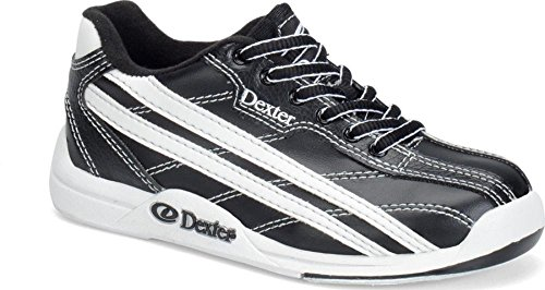 Jr Youth Bowling Shoes (Dexter Junior Jack Bowling Shoes, Black/White, 4)