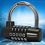Large 5 U-Type Gym Cabinet Locks Locker Toolbox Door Padlock Combination Lock, Gym Lock, 5 Digit Combination Padlock, Safety Padlock, Security Lock, Tool Box Luggage Lock, Wardrobe, Gym Locker, Bicycl