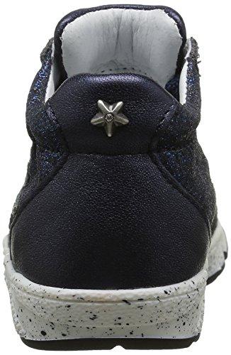 IKKS Karen - Zapatos de primeros pasos Bebé-Niños Azul - Bleu (12 Vts Marine/Argent Dpf/Bomba)