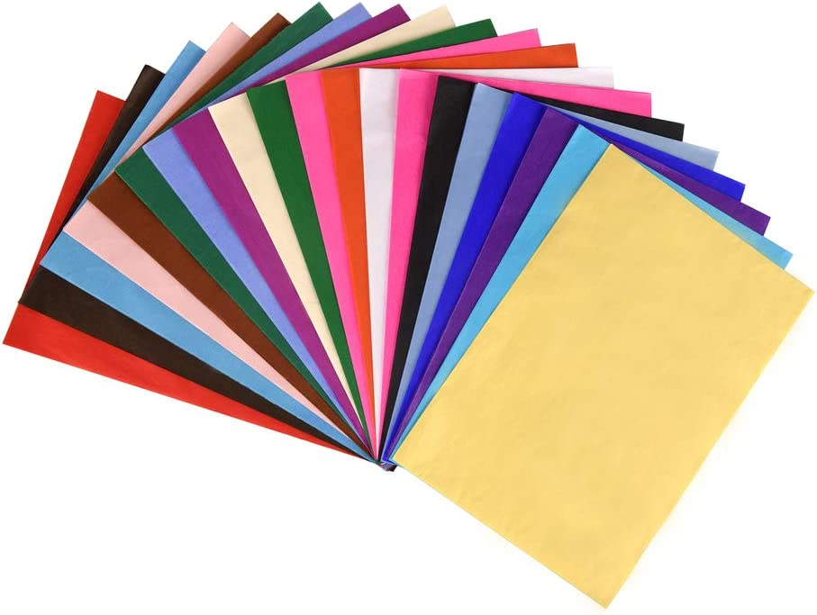 Lot de 100 feuilles de papier de soie dor/é et rose dor/é