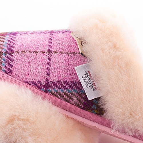 Tweed By Slippers Paw Ladies Snow Harris Pink Tartan 1W48nna5qA