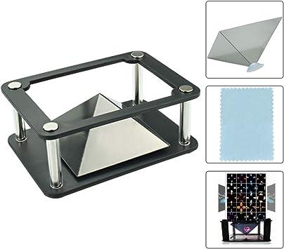 Opinión sobre AFASOES 3 Pcs, Pirámide Holográfica Pirámide de Proyección Holográfica 3D Mini 3D Holograma Pirámide para iPhone Samsung Todos los Móviles de 3.5 – 6 Pulgadas 1x Soporte +1x Paño de Gamuza de Limpieza