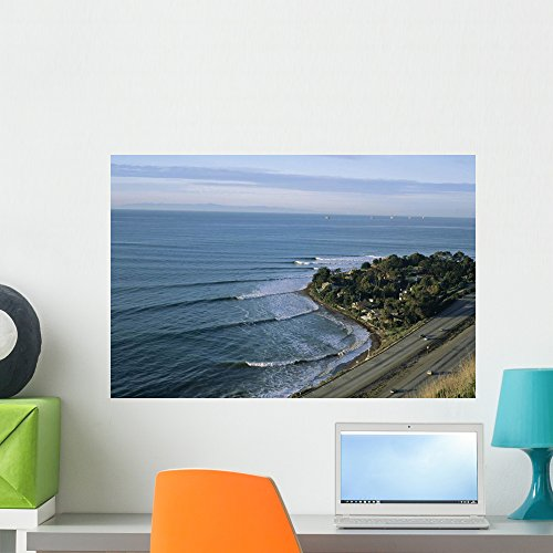 Epic Winter Surf Hitting Wall Mural by Wallmonkeys Peel and Stick Graphic (24 in W x 16 in H) WM86672