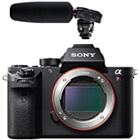 Sony a7R II Alpha Full Frame Mirrorless Digital Camera Body - With Tascam DR-10SG Camera-Mountable Audio Recorder with Shotgun Microphone