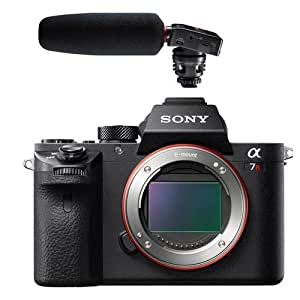 Sony a7RII Alpha Full Frame Mirrorless Digital Camera Body - With Tascam DR-10SG Camera-Mountable Audio Recorder with Shotgun Microphone