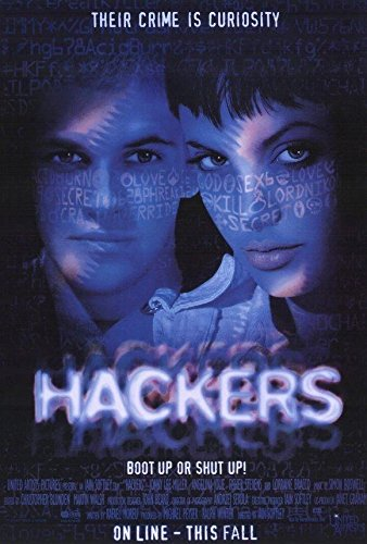 Hackers Movie Poster, Angelina Jolie, Felicity Huffman, A, Made In The U.S.A