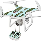 MightySkins Protective Vinyl Skin Decal for DJI Phantom 4 Quadcopter Drone wrap cover sticker skins Bombs Away