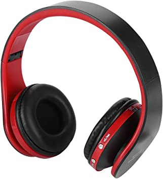 Amazon Com Ps4 Headset Acogedor Professional Wireless Hifi Bluetooth Foldable Ps4 Gaming Headphones With Microphone Include Mini Usb Bluetooth Dongle For Ps4 Black Red Electronics