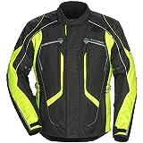 Tour Master Advanced Men's Textile Sports Bike Racing Motorcycle Jacket - Black/Hi-Viz / X-Large(Tall)