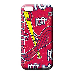 iphone 5c Back phone cover skin stylish Shock Absorbing st. louis cardinals mlb baseball