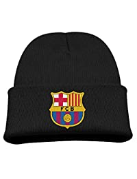 TINGHAO FC Barcelona Barca Logo Winter Knit Cap Beanie Cap For Kids